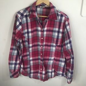 Riders by Lee Tops - Riders XL Plaid Button Down 100% Cotton